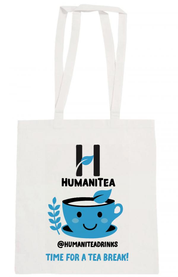 HumaniTea Tote Bag Blue - Handles