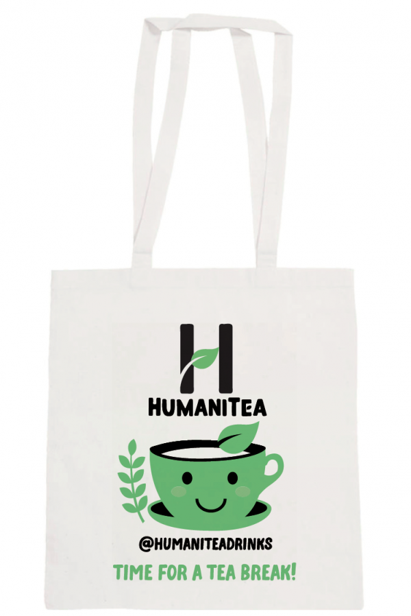 HumaniTea Tote Bag Green - Handles