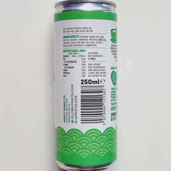 Matcha Nutritional Info